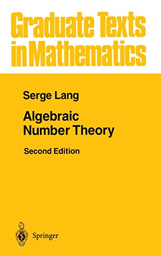 9780387942254: Algebraic Number Theory (Graduate Texts in Mathematics)