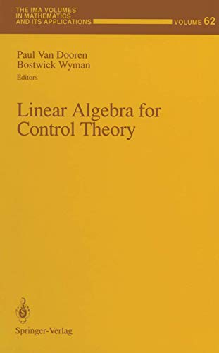 Linear Algebra for Control Theory (The IMA