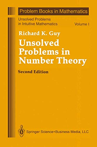 9780387942896: Unsolved Problems in Number Theory (Unsolved Problems in Intuitive Mathematics) (v. 1)