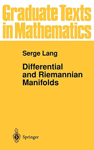 9780387943381: Differential and Riemannian Manifolds