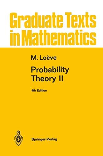 9780387943589: Probability Theory II (Graduate Texts in Mathematics)