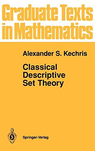 9780387943749: Classical Descriptive Set Theory