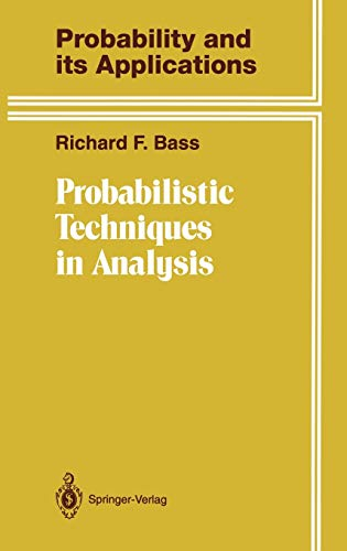 9780387943879: Probabilistic Techniques in Analysis (Probability and Its Applications)