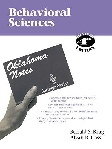 9780387943930: Behavioral Sciences (Oklahoma Notes)