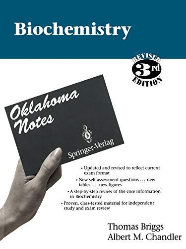 9780387943985: Biochemistry (Oklahoma Notes)