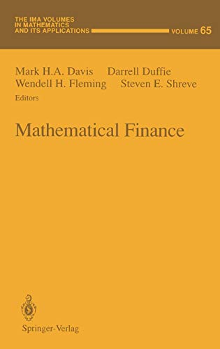 9780387944395: Mathematical Finance (The IMA Volumes in Mathematics and its Applications (65))
