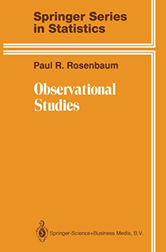 9780387944821: Observational Studies (Springer Series in Statistics)