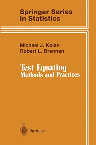 9780387944869: Test Equating: Methods and Practices (Springer Series in Statistics)