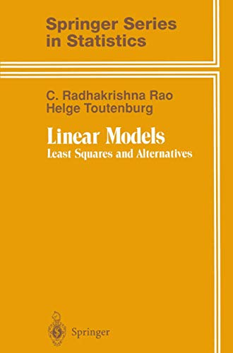 9780387945620: Linear Models: Least Squares and Alternatives