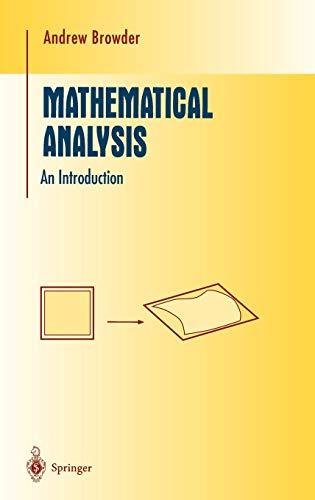 9780387946146: Mathematical Analysis: An Introduction (Undergraduate Texts in Mathematics)