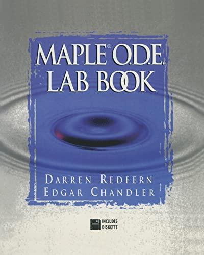 9780387947334: The Maple® O.D.E. Lab Book