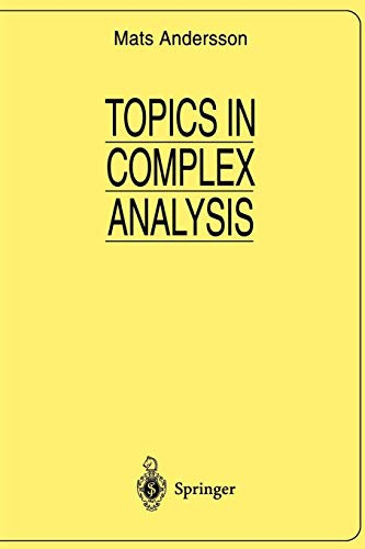 9780387947549: Topics in Complex Analysis (Universitext)