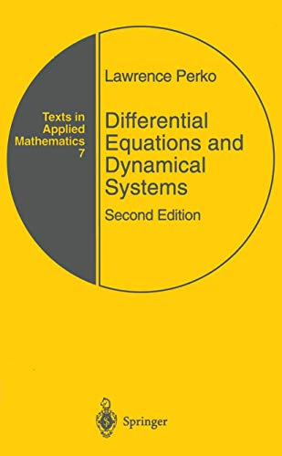 9780387947785: Differential Equations and Dynamical Systems (Texts in Applied Mathematics)