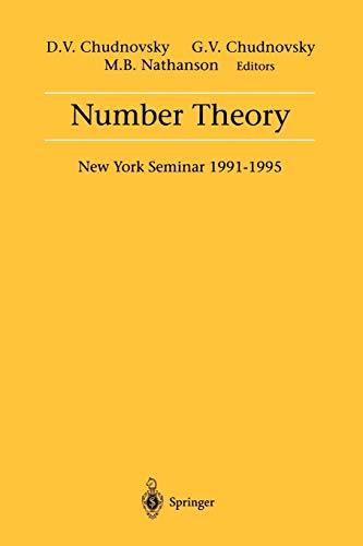 9780387948263: Number Theory: New York Seminar 1991-1995