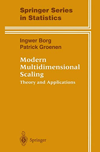 9780387948454: Modern Multidimensional Scaling: Theory and Applications (Springer Series in Statistics)