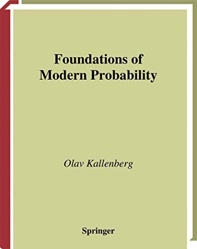 9780387949574: Foundations of Modern Probability (Probability and Its Applications)