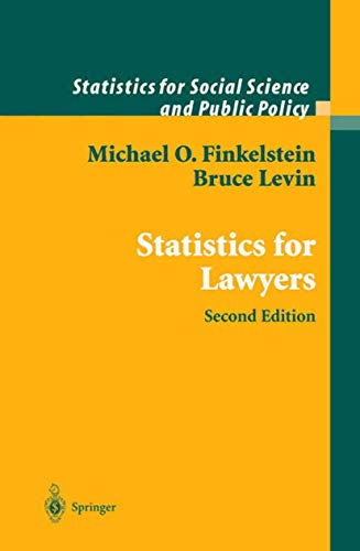 9780387950075: Statistics for Lawyers (Statistics for Social and Behavioral Sciences)
