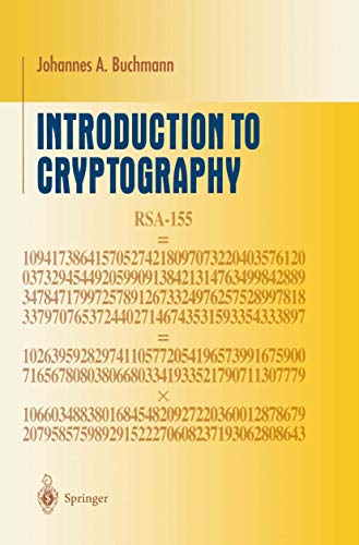 9780387950341: Introduction to Cryptography (Undergraduate Texts in Mathematics)