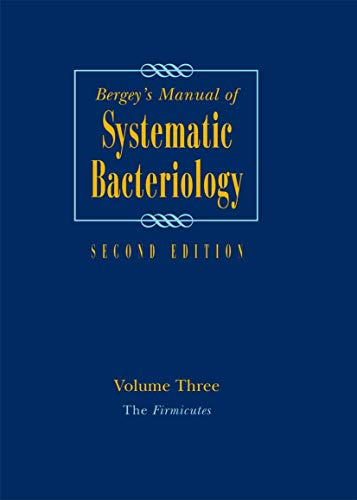 9780387950419: Bergey's Manual of Systematic Bacteriology: Volume 3: The Firmicutes (Bergey's Manual of Systematic Bacteriology (Springer-Verlag))
