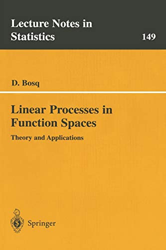 9780387950525: Linear Processes in Function Spaces: Theory and Applications (Lecture Notes in Statistics)