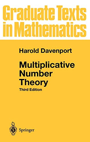 9780387950976: Multiplicative Number Theory (Graduate Texts in Mathematics) (v. 74)