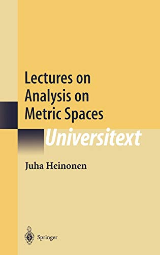 9780387951041: Lectures on Analysis on Metric Spaces (Universitext)