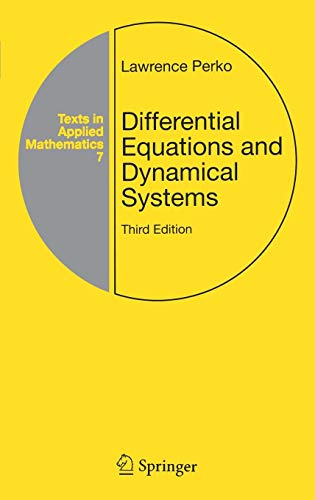 Differential Equations and Dynamical Systems (Texts in: DIFFERENTIAL EQUATIONS AND