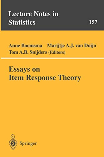 9780387951478: Essays on Item Response Theory (Lecture Notes in Statistics)