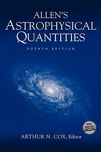 9780387951898: Allen's Astrophysical Quantities