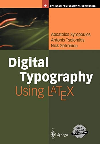 9780387952178: Digital Typography Using LaTeX: An Introduction to Digital Typography