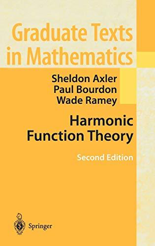 9780387952185: Harmonic Function Theory (Graduate Texts in Mathematics)