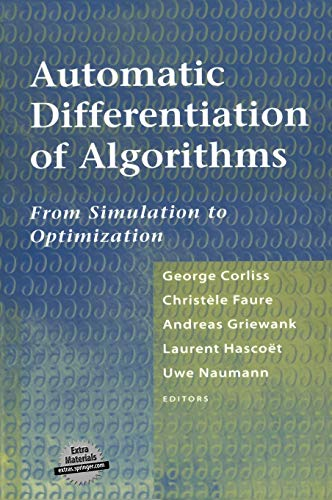 9780387953052: Automatic Differentiation of Algorithms: From Simulation to Optimization