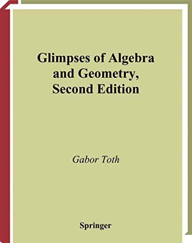 9780387953458: Glimpses of Algebra and Geometry (Undergraduate Texts in Mathematics)