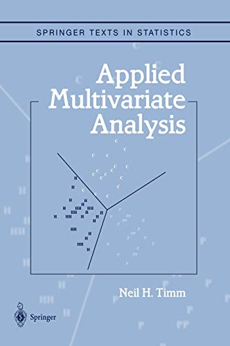 9780387953472: Applied Multivariate Analysis (Springer Texts in Statistics)