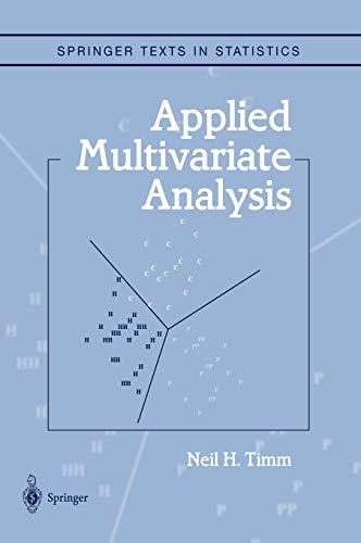 9780387953472: Applied Multivariate Analysis (Springer Texts in Statistics)
