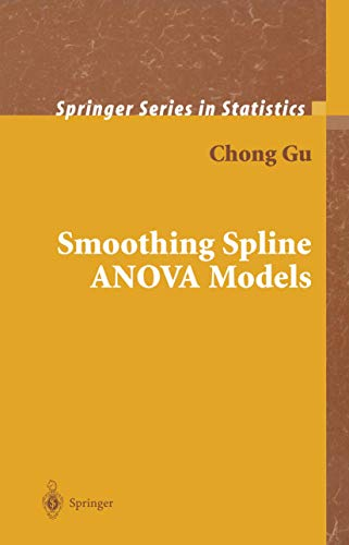 9780387953533: Smoothing Spline ANOVA Models (Springer Series in Statistics)