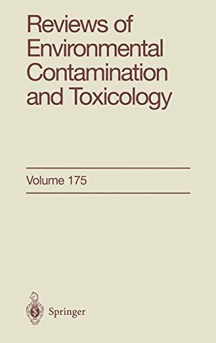 Reviews Of Environmental Contamination And Toxicology Volume