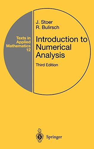 9780387954523: Introduction to Numerical Analysis (Texts in Applied Mathematics)