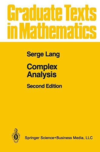 9780387960852: Complex Analysis (Graduate Texts in Mathematics)