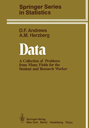 9780387961255: Data: A Collection of Problems from Many Fields for the Student and Research Worker (Springer Series in Statistics)