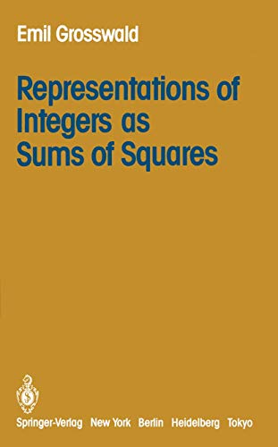 9780387961262: Representations of Integers as Sums of Squares