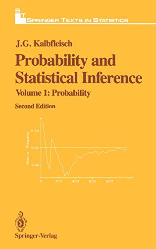 9780387961446: Probability and Statistical Inference: Volume 1: Probability (Springer Texts in Statistics)