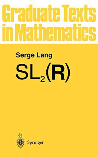 9780387961989: SL2(R) (Graduate Texts in Mathematics) (v. 105)