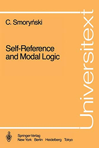 9780387962092: Self-Reference and Modal Logic (Universitext)