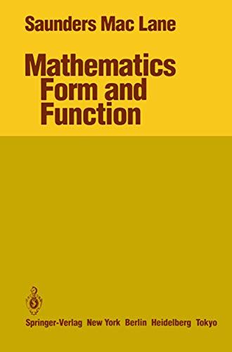 Mathematics Form and Function.: Mac Lane, Saunders