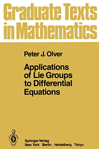 9780387962504: Applications of Lie Groups to Differential Equations (Advances in Physical Geochemistry)