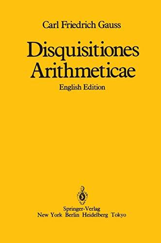 9780387962542: Disquisitiones Arithmeticae/English Edition
