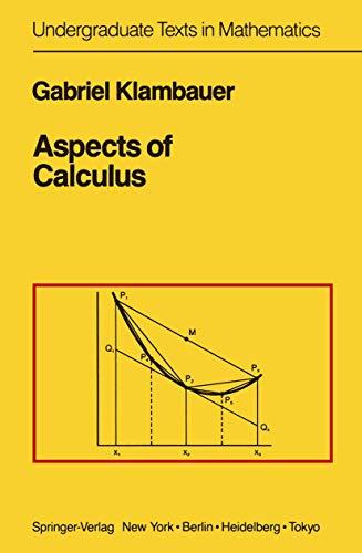 9780387962740: Aspects of Calculus (Undergraduate Texts in Mathematics)