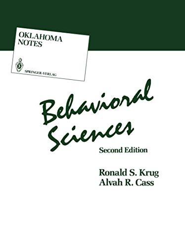 9780387963334: Behavioral Sciences (Oklahoma Notes)