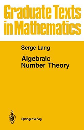 9780387963754: Algebraic Number Theory (Proceedings in Life Sciences)